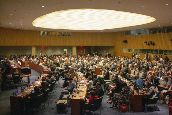 Delegates from around the world gather at the UN High-level Political Forum on Sustainable Development, 9 July 2019